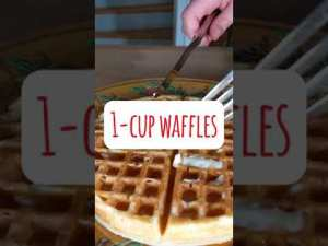 Easy 1 Cup Waffles Recipe (#Short)