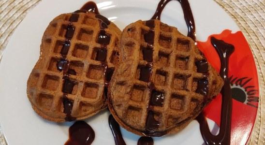 Eggless Chocolate waffles | Chocolate waffle recipe | Chocolate waffles Indian style
