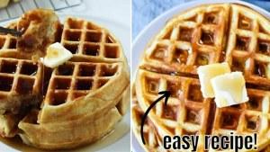 Homemade waffles Recipe   Tasty Easy Waffles   Easycooking