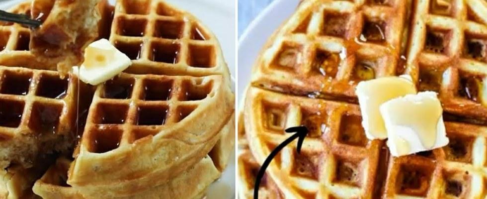 Homemade waffles Recipe | Tasty Easy Waffles | Easycooking