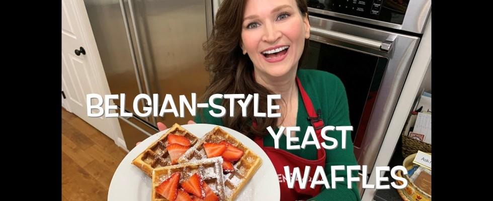 How To Make Belgian Waffles! Light, Crispy On The Outside, Creamy On The Inside. Made With Yeast!
