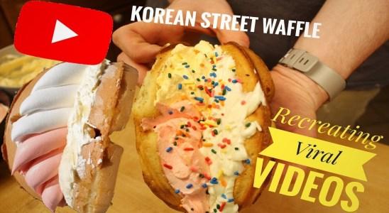 Recreating Korean Street Waffles || Recreating Viral Recipes