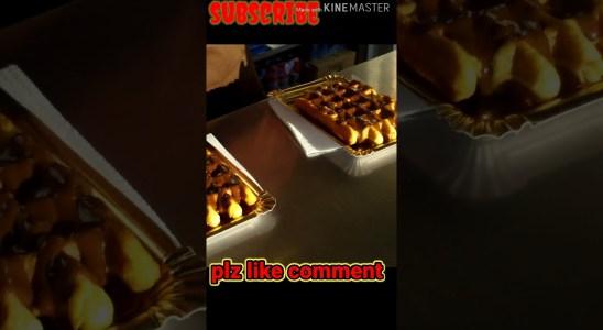 #waffle || chocolate waffle ||street food waffle || belgian waffle || #shorts #youtubeshots