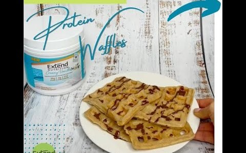 Extend Anytime Shake Protein Powder Recipe - Protein Waffles