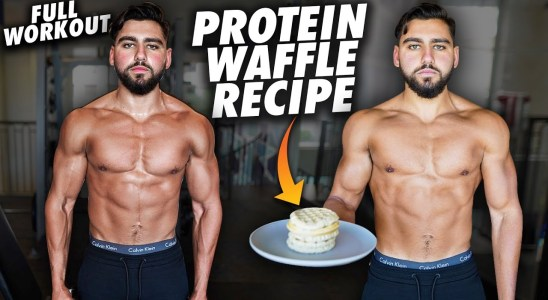 Full Day Of Eating And Training   Protein Waffle Recipe Revealed + Full Workout