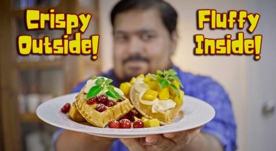 Crispy and Fluffy Belgian Waffles Recipe | Breakfast Ideas | Easy Recipes