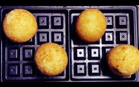 Korean Cheese Balls Recipe Using Waffle ASMR | Healthy Waffle Iron Recipe
