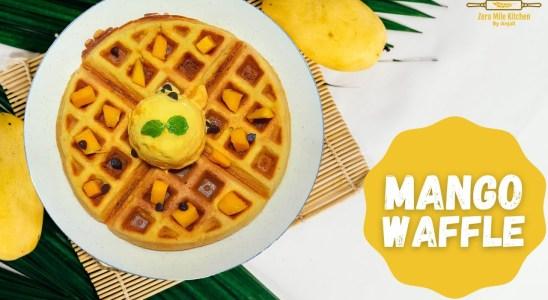 Mango waffle recipe | Crispy Mango waffle | Eggless waffle | Belgian waffles | breakfast waffles