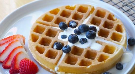 Secret Ingredient for crispy Waffles  The Best Waffle recipe [ASMR]