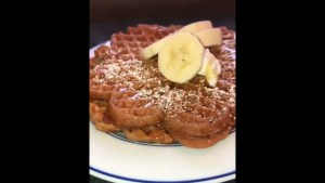 Easy High protein waffles recipe it's healthy and tasty #shorts #healthy #gym