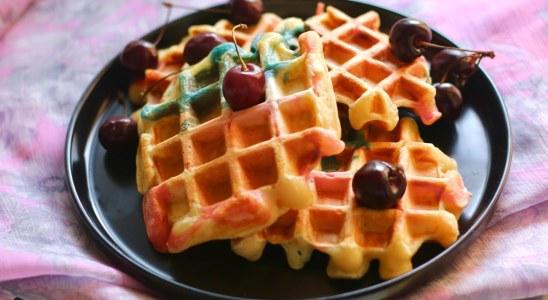 How to Make Waffles for kids |  Birthday Party Waffles Recipe | Unicorn Waffles Recipe