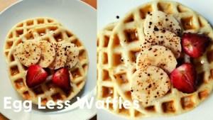 How to make EASY EGGLESS WAFFLES | Waffle Recipe - Eggless Cafe Style