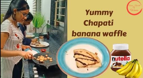 Yummy Chapati banana waffle | Quick Snacks recipe in Tamil |5 min Evening Snacks |WOW_world of women