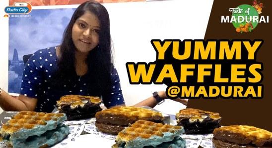Best Double Chocolate Waffle From Sandwich Club   Radio City Taste Of Madurai
