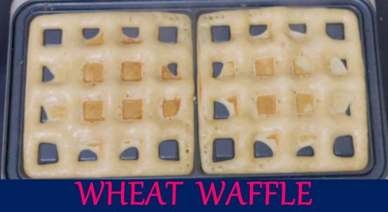 Best Eggless Wheat Waffle Recipe| homemade waffle recipe |Tricolour cream waffle yum