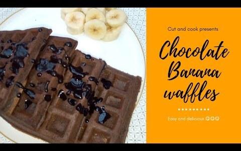 Chocolate cake recipe in Urdu hindi | chocolate Banana waffles | Chocolate cake recipe in English