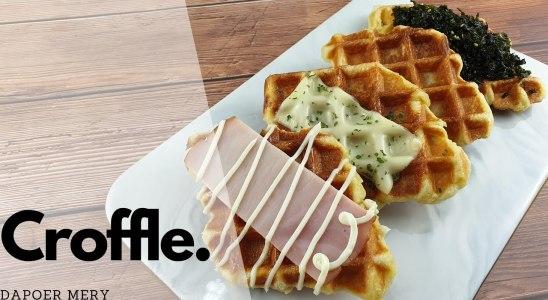 Croissant? Waffle? Buat Croffle Aja!! | Easy Homemade Croffle Recipe INDO/ENG