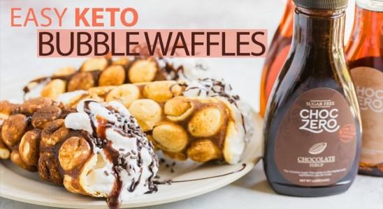 Easy Keto Bubble Waffles