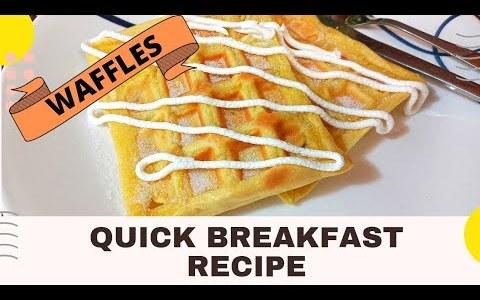 Waffle Recipe    Breakfast Ideas