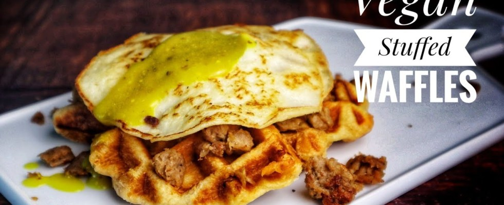 AMAZING Savoury Vegan Stuffed Waffles Recipe