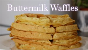 How To: Fluffy Waffles Recipe   The BEST Buttemilk Waffles   Blind Breakfast
