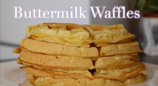 How To: Fluffy Waffles Recipe | The BEST Buttemilk Waffles | Blind Breakfast
