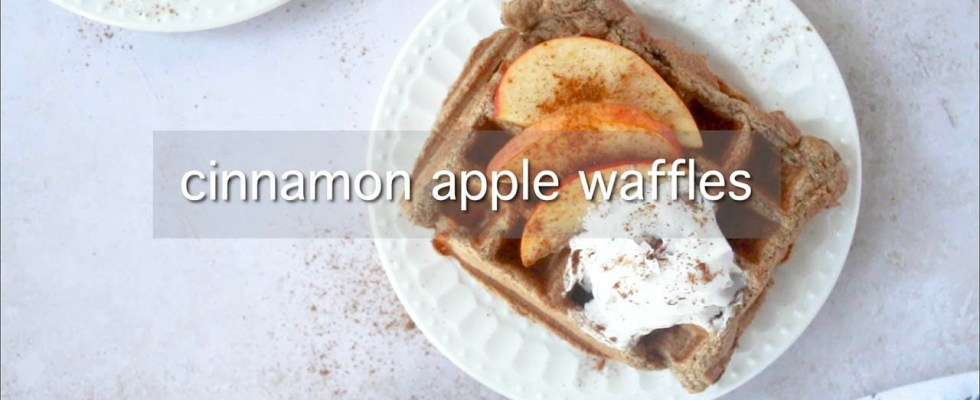 How to Make Cinnamon Apple Waffles - Healthy, Quick, Easy