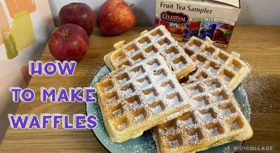 Tasty waffles recipe | how to make waffles at home