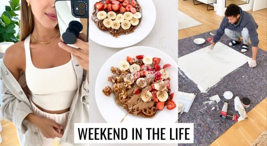VLOG | Healthy Waffle Recipe, Catch Ups & New Apartment Artwork |  Annie Jaffrey