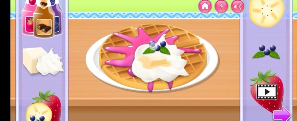 kids cooking games   waffles recipe