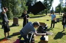 Screaming Flea crews at work on Evil In Law, which airs on ID this month. Photo by Alice Ikeda.