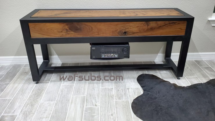Custom Subwoofer Table Black Walnut