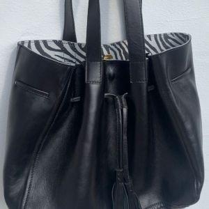 Wagapé Apolline grand sac Noir Zebre