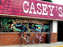 Casey's Welcomes Riders! Knoxville, IA, RAGBRAI 2013. Copyright Robert Hartwig.