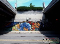 Chicago under-Bridge art.