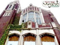 St. Agnes (Martyrs of Uganda Parish) Church, Detroit, MI. Only a few of the original tiles remain. Much of the ornamentation, metal work, light fixtures, etc. has been taken by scrappers.