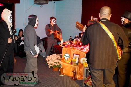"Plush Deathly @ ""Dia de los Muertos"" altar, Token Lounge - Copyright Robert Hartwig 2013, wagarob.wordpress.com"