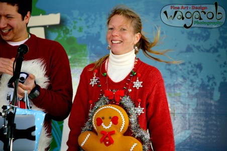 First Place (Ladies), Hideous Holiday Sweater Run, Kensington Metropark, Milford, MI - Copyright Robert Hartwig 2013, wagarob.wordpress.com