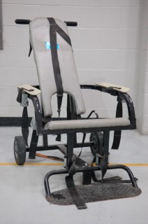 Psychiatry and Abuse restraint chair in hospital