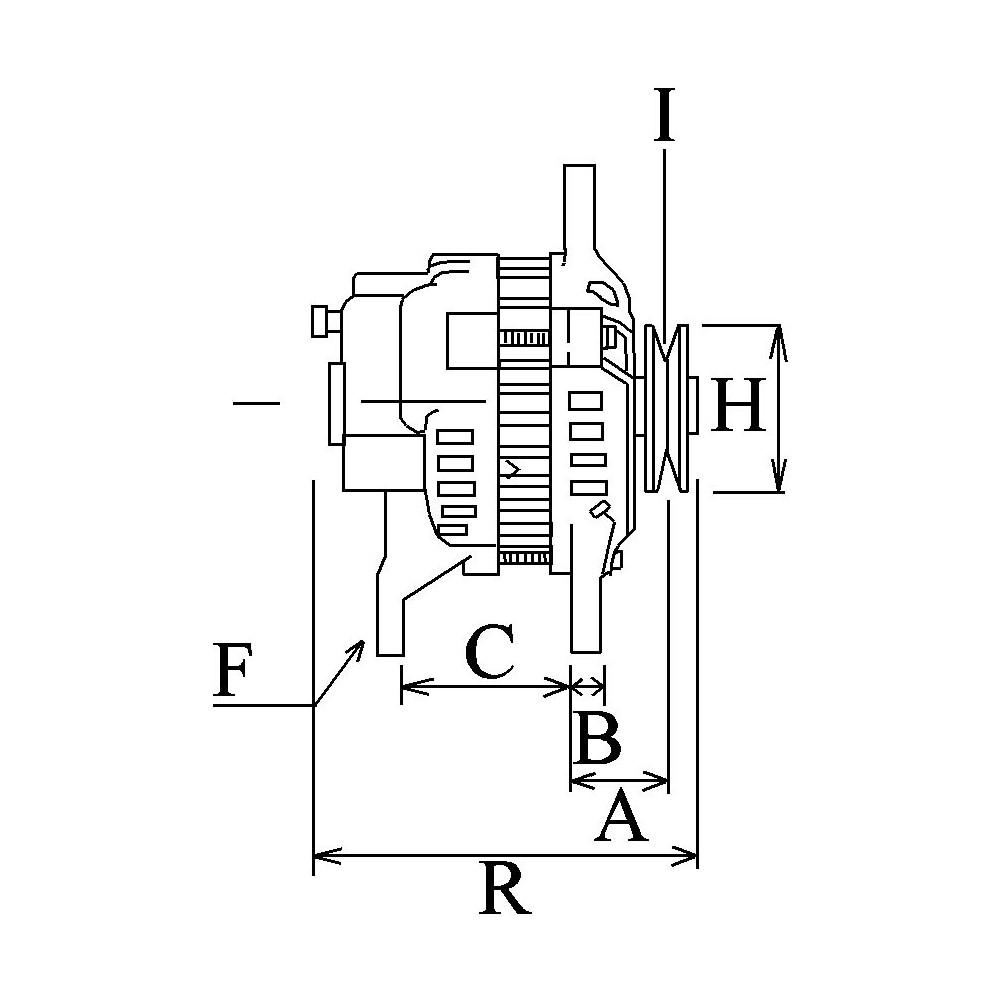 Alternator replacing HITACHI LR180-03C / LR180-03B / LR180