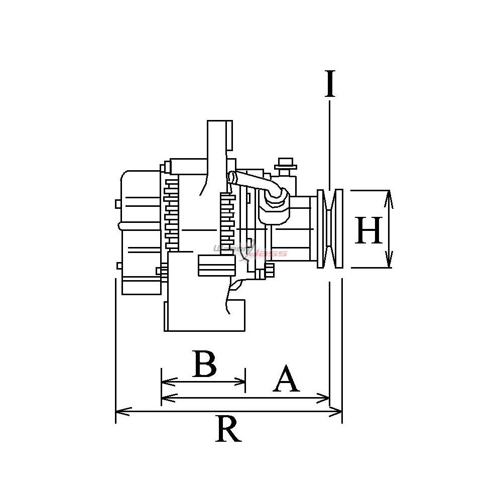Alternator replacing DENSO 100210-4520 / 100210-4510 for Jeep
