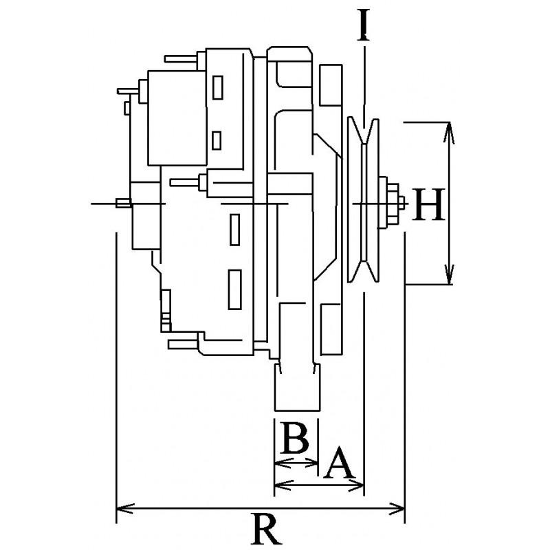 Alternator replacing HITACHI LR140-704 / LR140-708 / LR140