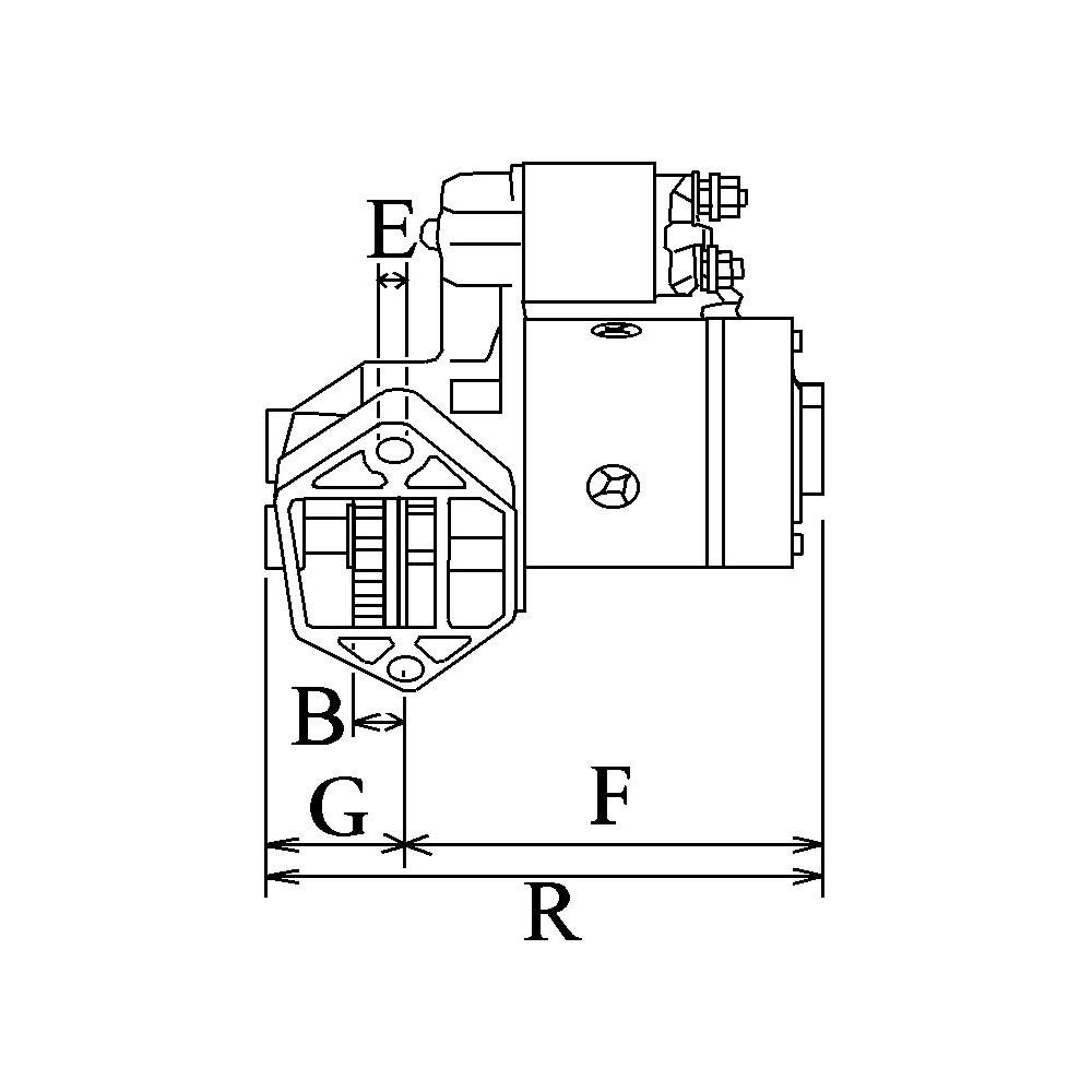 Starter replacing BOSCH 0001115088 / 0001115089