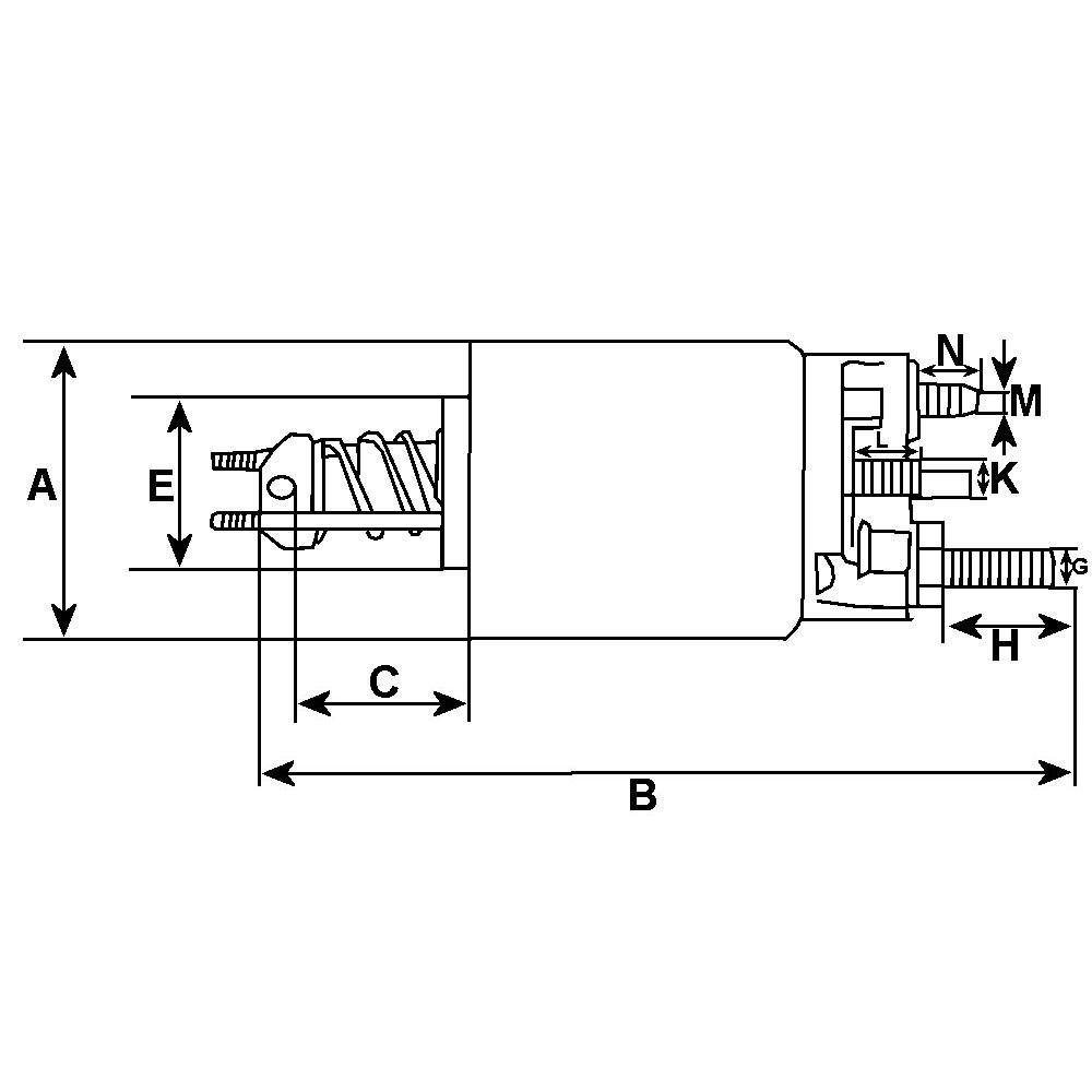 Relay For VALEO starter D7E39 / D7G11 / TS8E6