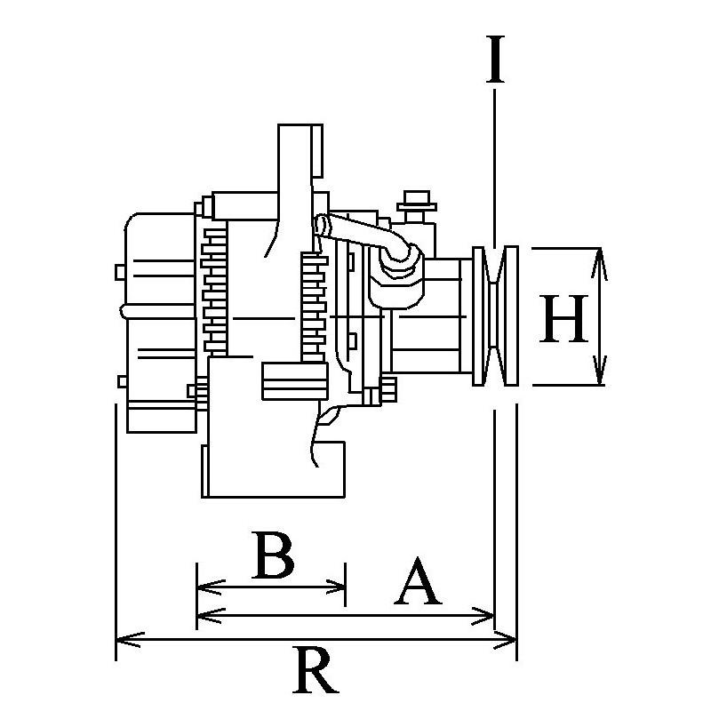 Alternator Lucas 26021278 / 26021276 / 004001C01 for Mahindra