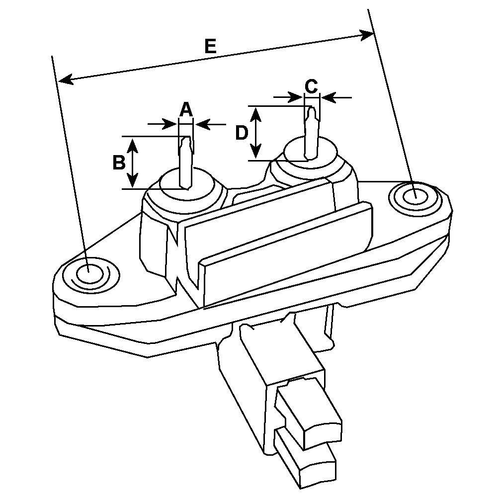 Regulator for alternator Iskra 11.201.727 / 11.201.970