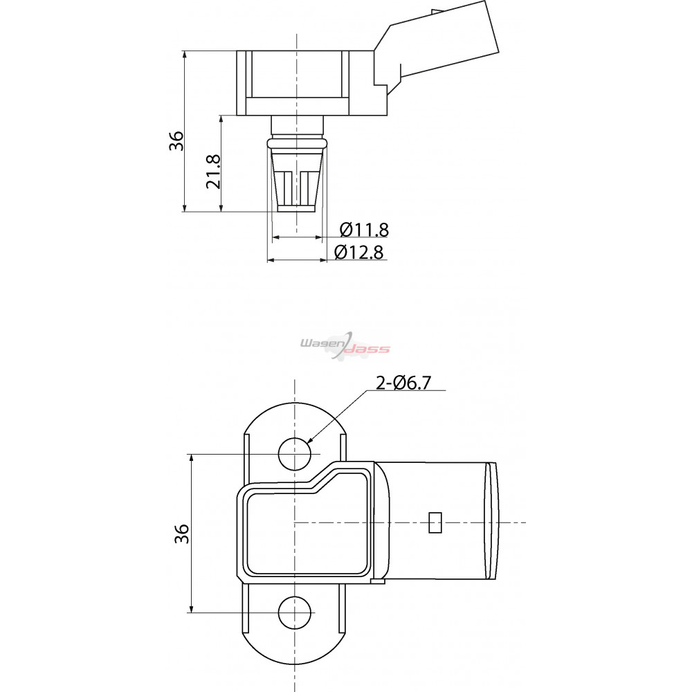 MAP Sensor replacing 0261230031 / 06B906051 / 6PP009400261