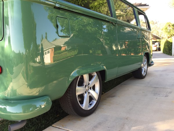 Ken Y's bus with a full kit and brakes 112mm pattern