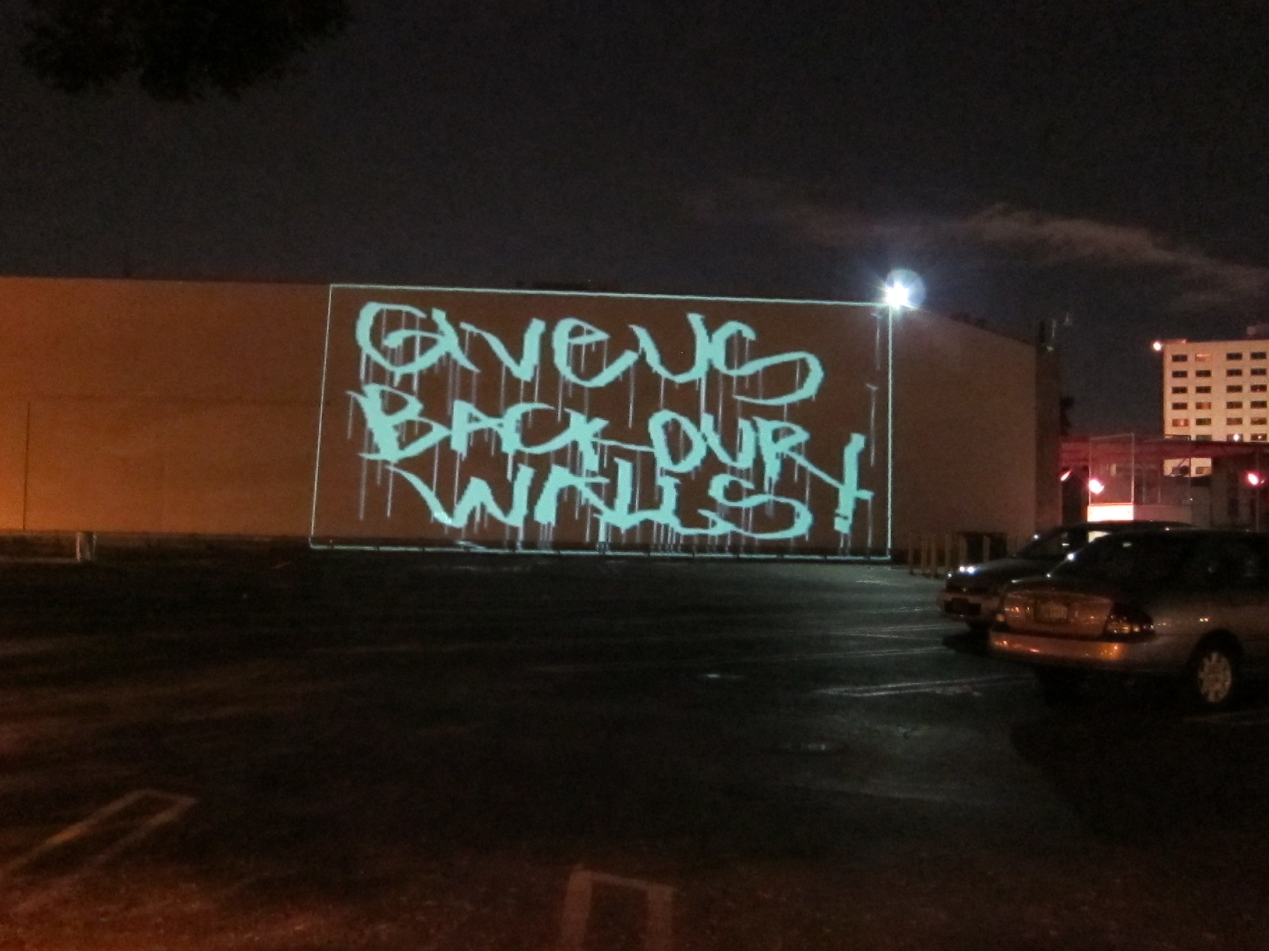 LA street artists stage laserlight protest of censorship on Museum of Contemporary Art  Waging