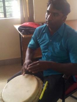 Aruldas Vijaya rehearses before Horata. (WNV/Puspha Achanta)